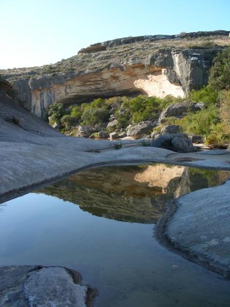 Bedrock Pool in Seminole Canyon