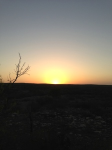 Sunrise over Comstock, TX March 18, 2013
