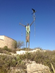Shaman statue at Seminole Canyon State Park
