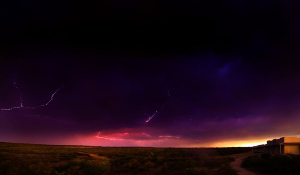 Lightning strike at Shumla, Texas, by Mark Willis