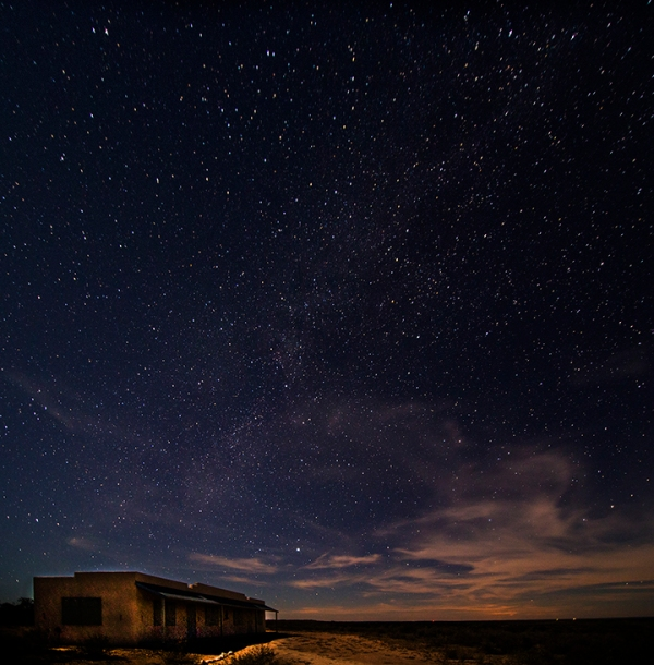 Stars over Bunk House at Shumla, Texas by Mark Willis