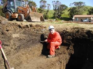 Geoarcheological investigation at prehistoric shell midden, central California coast
