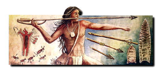 Throwing a spear with an atlatl is one of the eventsof anicent skill at the Archeolymics.