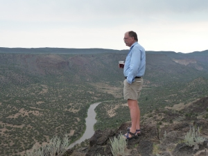 Steve Black overlooking the Pecos River in New Mexico.