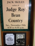Judge Roy Bean Country, by Jack Skiles.