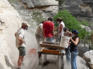 Students from Comstock ISD in Shumla Scholars program  work with Ancient South West Texas Project in Spring, 2014