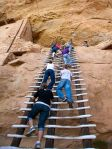 Climbing Ladders at Mesa Verde